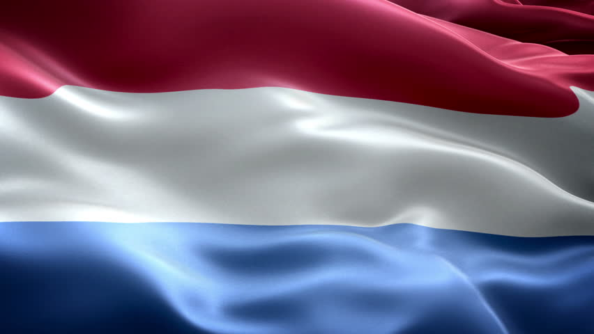 Nederland national flag, new and different ripple effect. The flag is designed without angle.