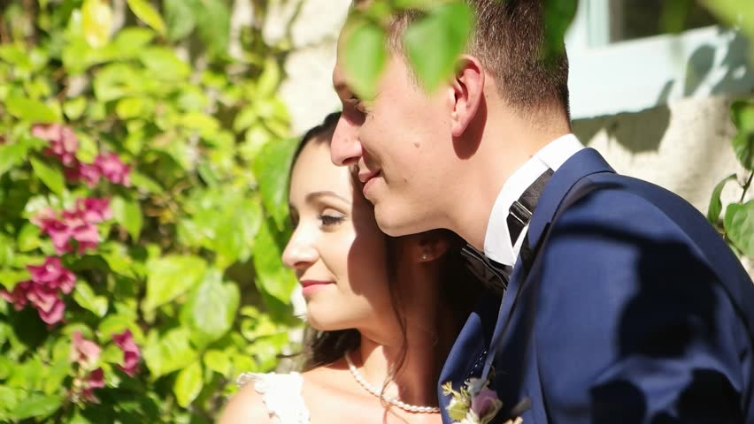 Wedding Photo Hy Bride And Groom Together Outdoor Shooting At Streets Of Alacati Cesme