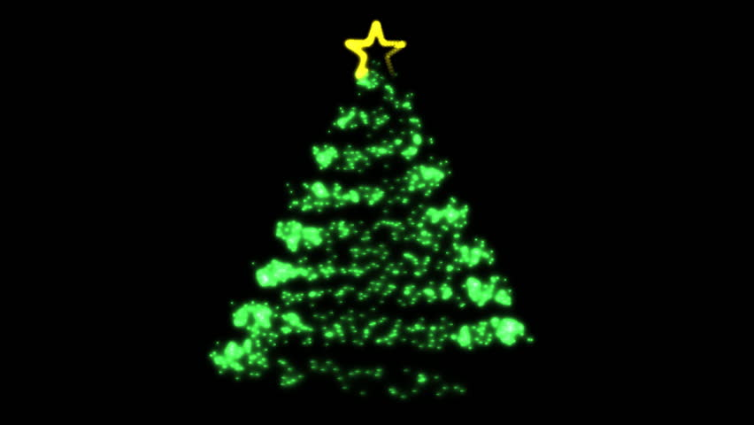 Flowing Light Christmas Tree (HD). Computer Animated Christmas Tree That  Builds In A