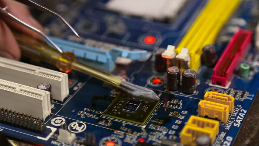 Master Repair Computer Board Stock Footage Video (100