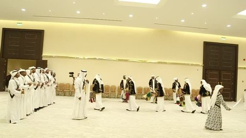 Saudi Arabia (RIYADH) , 2016/Oct/5 In this video you can watch the traditional dance of Riyadh people, usually they do it in widening and official celebration, the dance means that we are the winner.