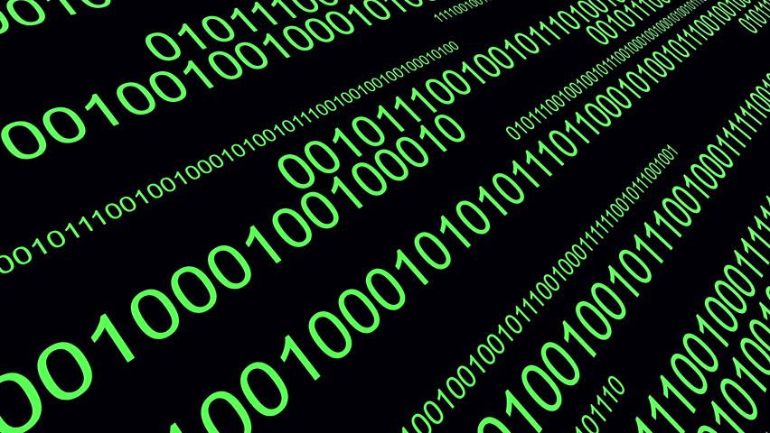 4k,Binary source code,data digital display,future tech background. cg_03590_4k