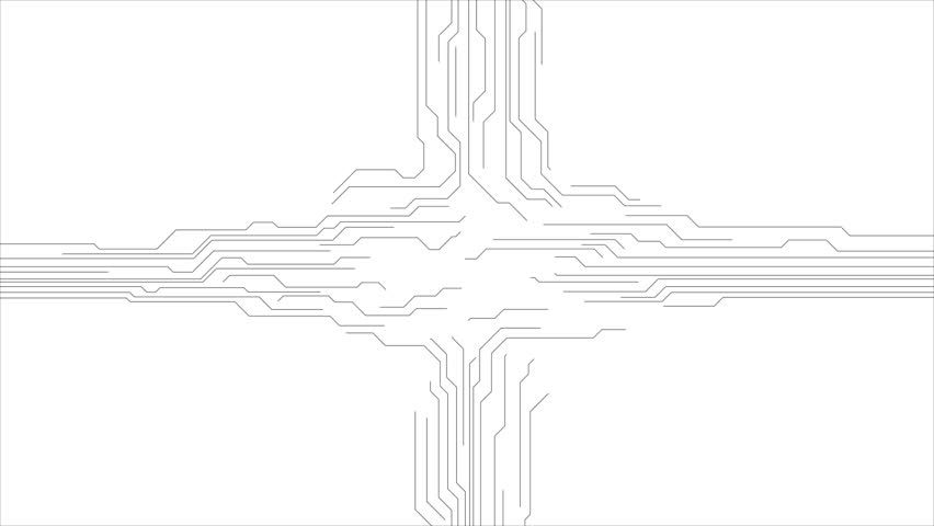 blue tech circuit board technology animated background  video graphic design hd 1920x1080 stock