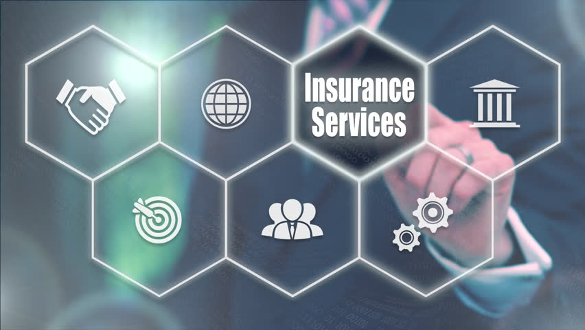 Businessman pressing a Business Insurance Services concept | Shutterstock HD Video #20970772