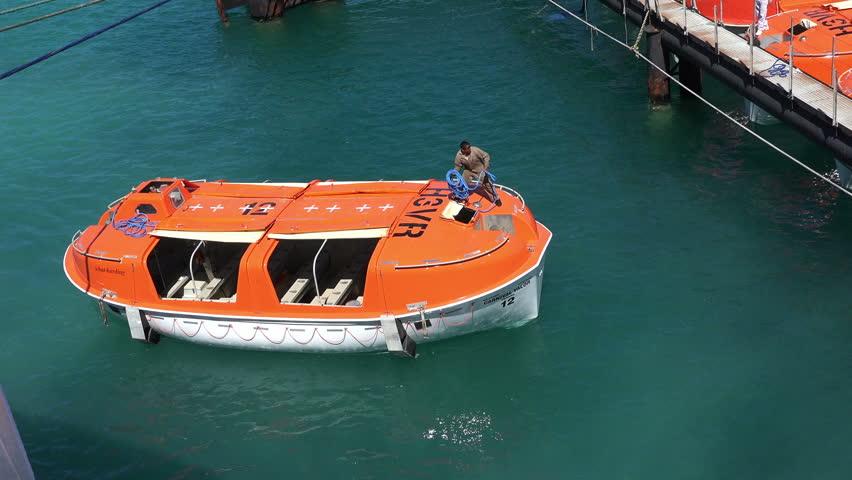 FREEPORTBAHAMASMAY Life Boats Of MV Carnival Valor Cruise - Valor cruise ship