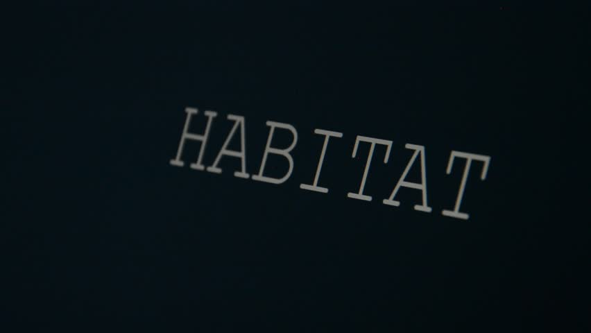 Typing word on a black background, habitat | Shutterstock HD Video #20988508