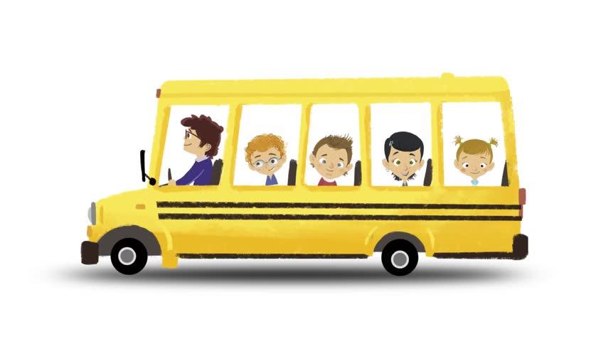 Раскрасить, автобус картинка для детей анимация
