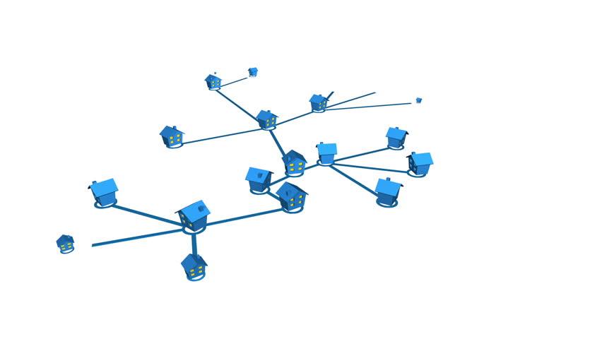 Home network or public utilities loop | Shutterstock HD Video #2100578