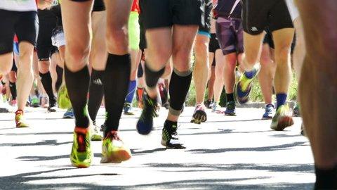 STOCKHOLM, JUNE 4: People running the Stockholm marathon, Stockholm, Sweden, June 4, 2016