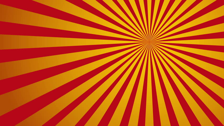 sunburst in red and yellow vintage style stock footage