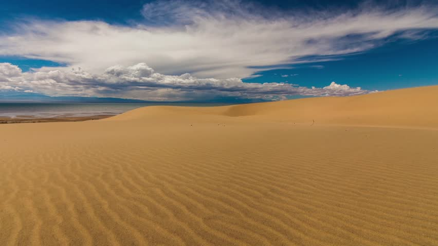 Desert Sand Dunes In A Dry Wilderness Stock Footage Video ...