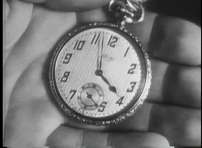 Close-up of palm holding pocket watch