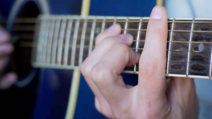 Stock video of man playing acoustic guitar. playing on | 22614379 ...