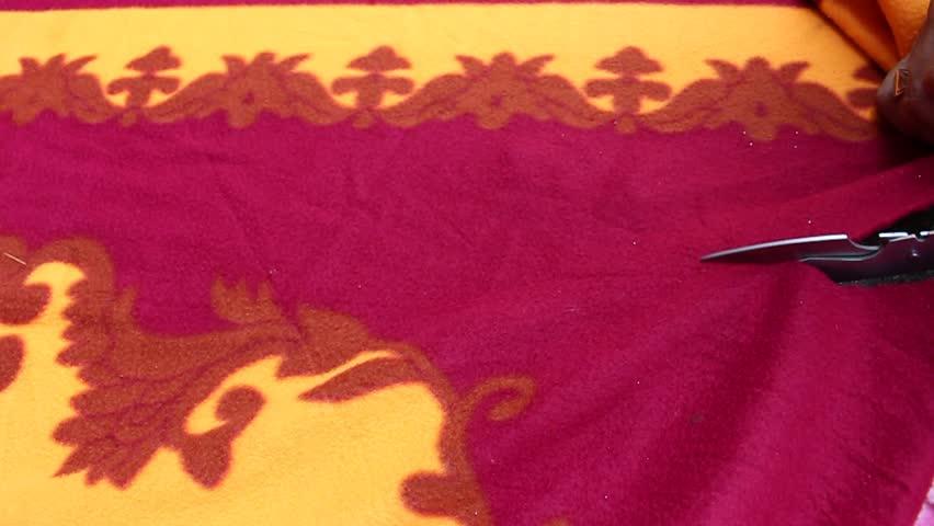 Using fabric shears | Shutterstock HD Video #21119068