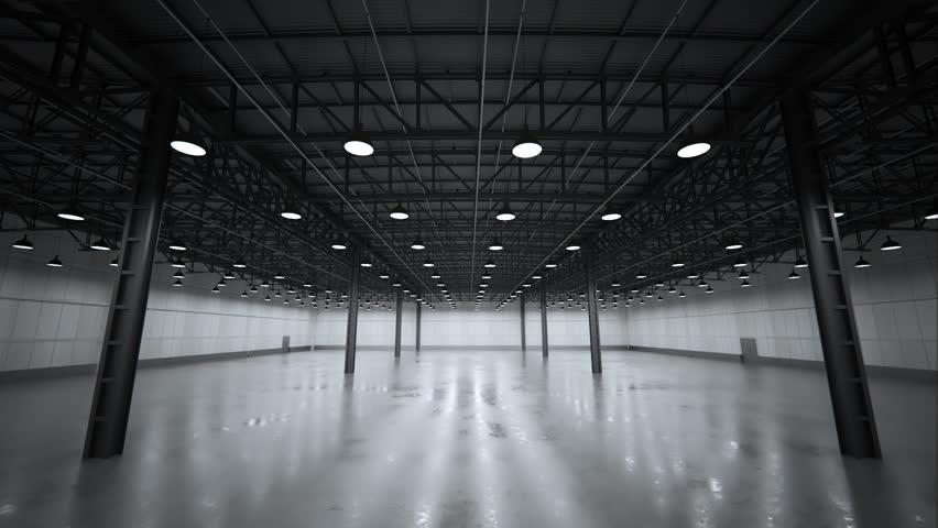 02611 Interior Of Large Modern Empty Warehouse