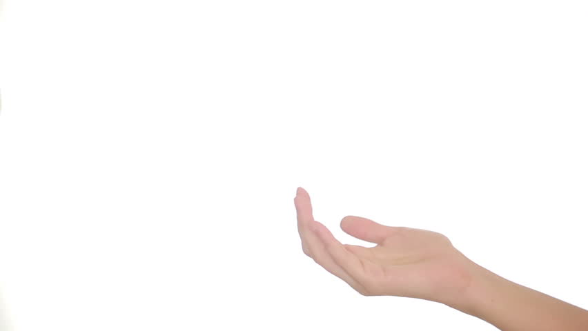 Female Hand Appears In The Frame Stock Footage Video ...