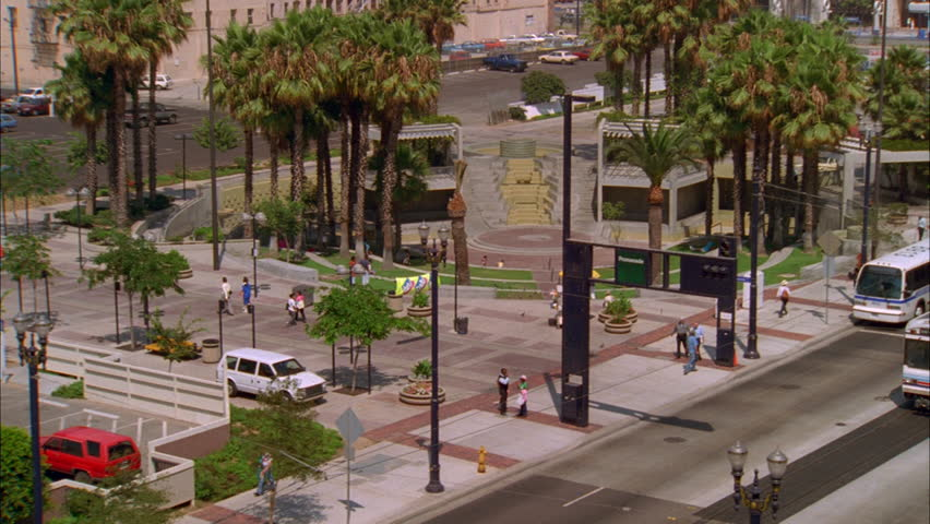 Day High down Metro Link Blue Line train passing by, palms | Shutterstock HD Video #21142768