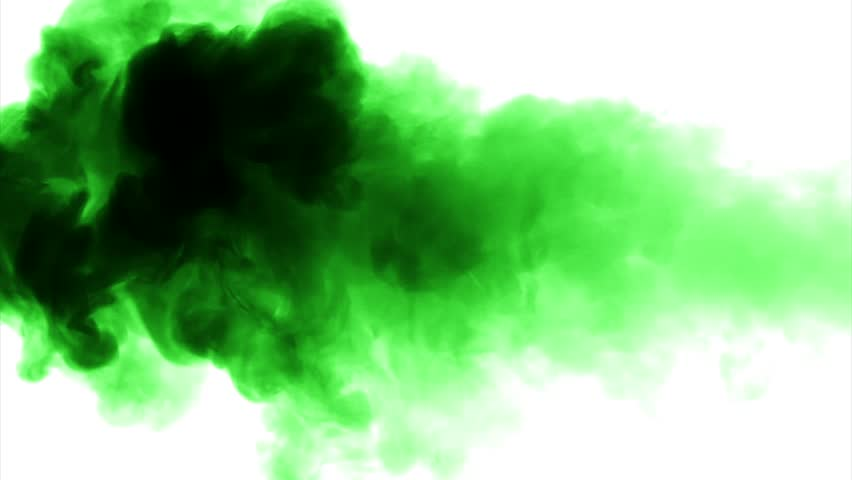 Colorful Green Smoke On Dark Background Stock Footage Video ...