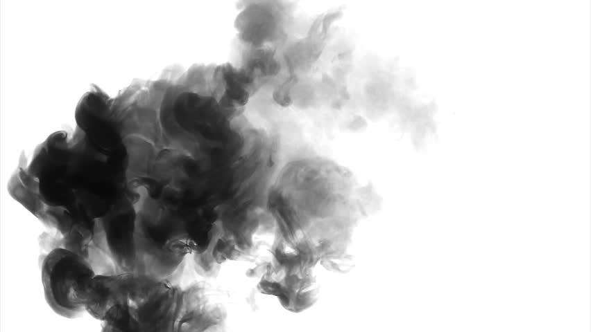 Black And Grey Cloud Smoke Ink On Water White Background Stock Footage Video 21151498