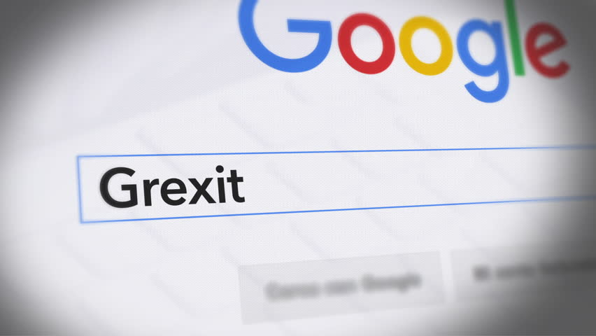 USA-Popular searches in 2015 Google Search Engine - Search For Grexit Monitor with reflection hands typing a search on google | Shutterstock HD Video #21154378