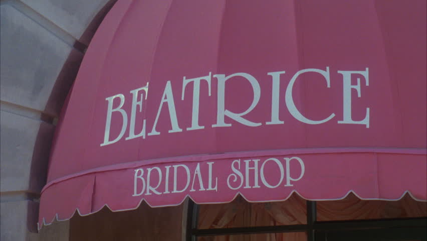 day Tight pink canopy Beatrice Bridal Shop
