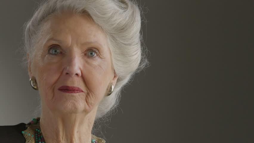 Portrait of a mature senior woman smiling