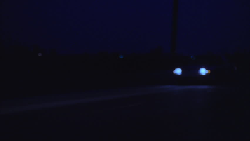 Night car drive right left country rural road no other cars | Shutterstock HD Video #21173578
