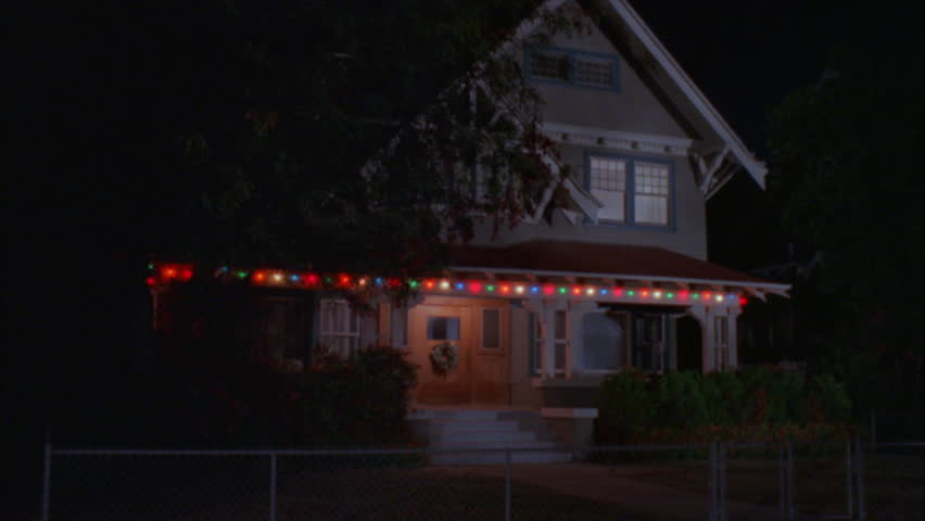 One Story House Christmas Lights.Night Raked Left 2 3 Story Craftsman House Gray Royalty