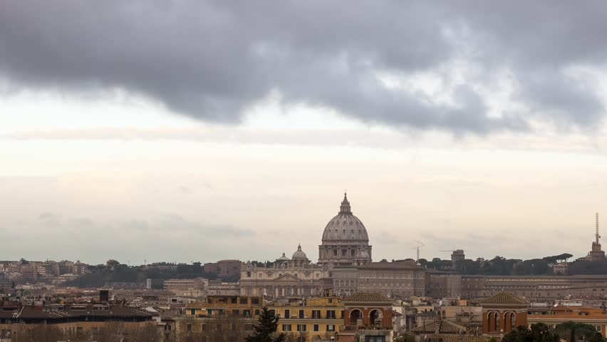 The dome of St Peter's Basilica Zoom Rome, Italy. | Shutterstock HD Video #21247078