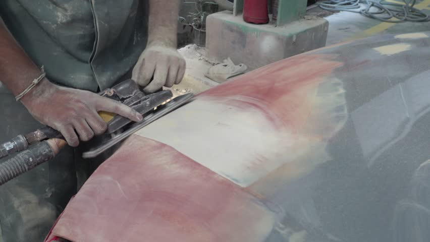 4K Garage Car body work auto repair paint after the accident during the spraying - 4K & Worker Used Wood Planers Making Wood Door Stock Footage Video ... pezcame.com