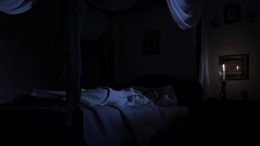 Dark Bedroom At Night poltergeist stock footage video | shutterstock