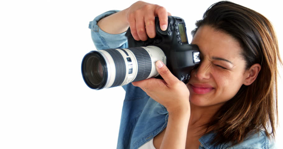 Photographer Taking Photo With Professional Stock Footage Video 100 Royalty Free 21268588