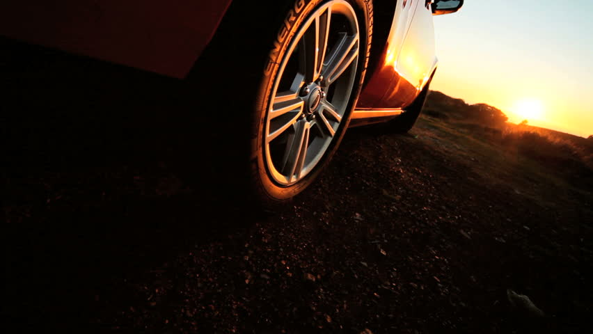 Sports vehicle parked at sunset in San Francisco | Shutterstock HD Video #2127158