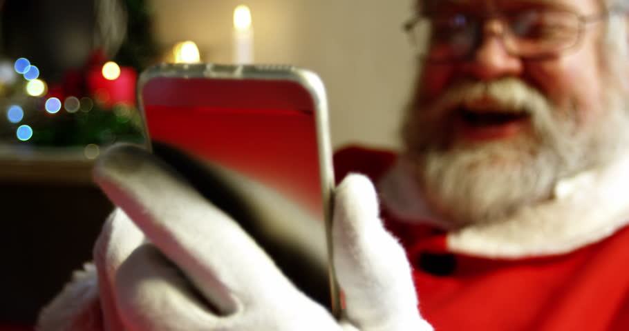 Image result for santa using phone