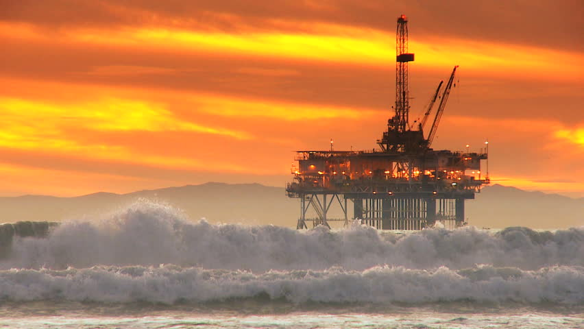 Offshore coastal oil drilling rig production | Shutterstock HD Video #2127233