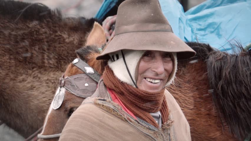 Elder peruvian man smiling to the camera. Slow motion | Shutterstock HD Video #21281818