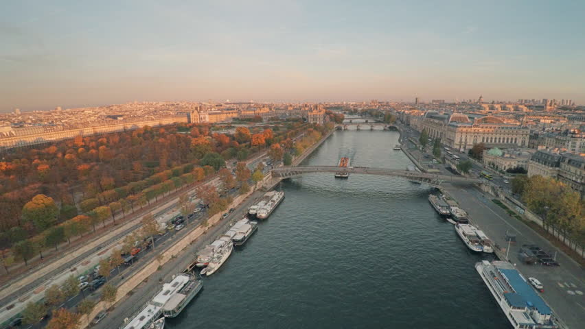 Aerial view of Paris during sunset | Shutterstock HD Video #21290998