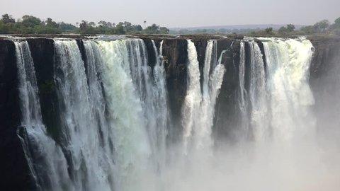 Victoria Falls (Zimbabwe, 4K footage)