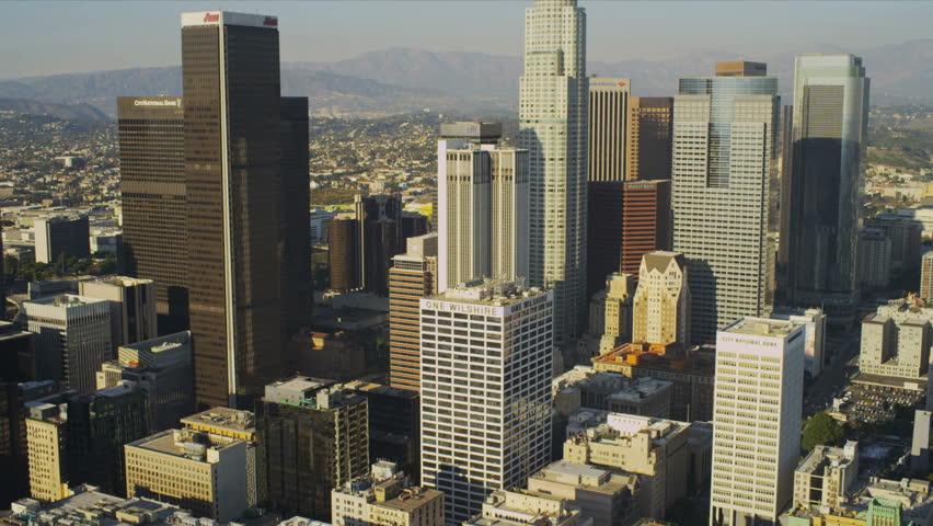Downtown LA Aerial View | Shutterstock HD Video #2131148