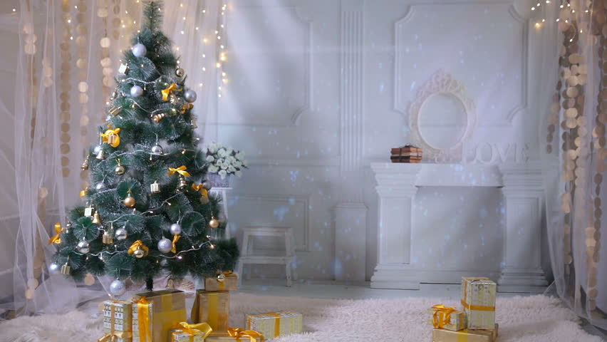 Christmas background room decorated for new year christmas christmas background room decorated for new year christmas celebration no people stock footage video 21317668 shutterstock voltagebd Image collections