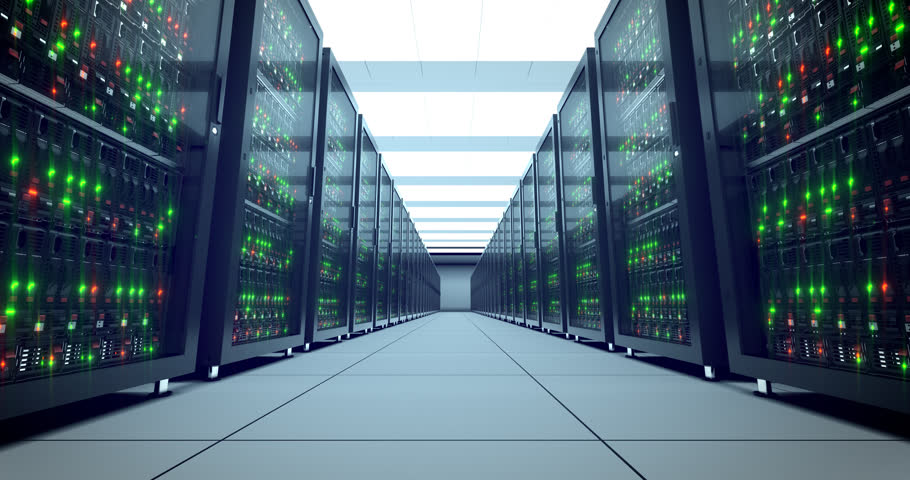 Servers racks.  Modern datacenter. Cloud computing. 4k UHD. Server in datacenter. Cloud computing data storage 3d rendering. 4k animation | Shutterstock HD Video #21364708