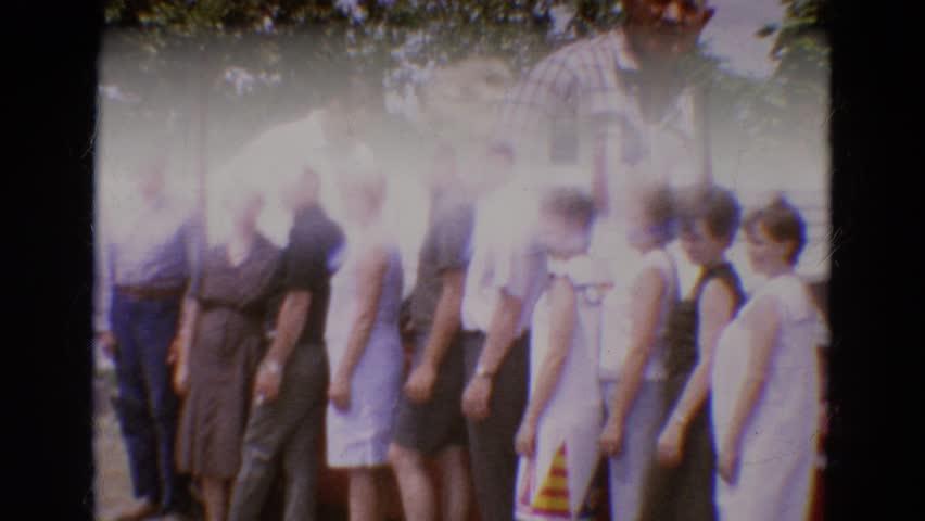 DILLER, NEBRASKA 1968: people are posing for picture taking | Shutterstock HD Video #21369448