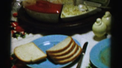 NEW YORK 1956: fresh food on the table for a breakfast treat