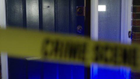 Home Invasion - Break in with crime scene ribbon