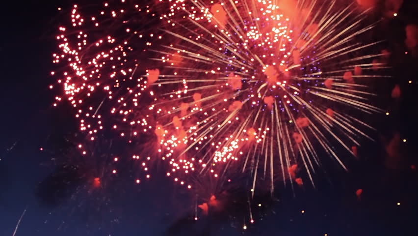 Spectacular Fireworks With Audio Stock Footage Video 380764 ...