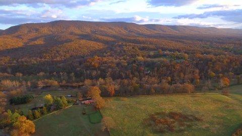 Aerial video West Virginia USA