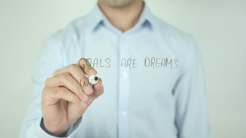 Goals are Dream with Deadline, Writing On Screen | Shutterstock HD Video #21490018