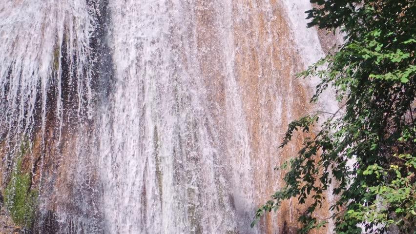 Waterfall Jur-Jur, Crimea Ukraine HD | Shutterstock HD Video #21516898