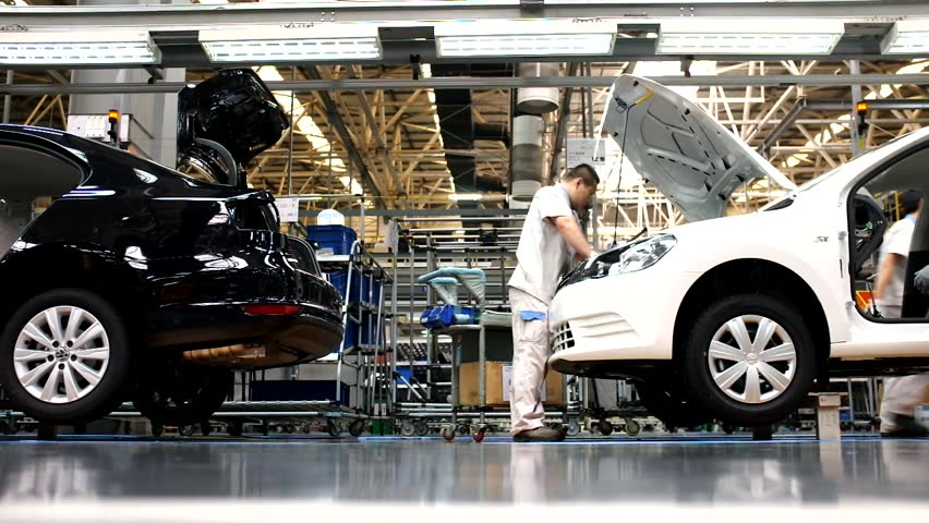 Car Assembly Plant in Chengdu, China - September 19, 2014. Chengdu economic growth. State-level economic and technological development zone of Chengdu.