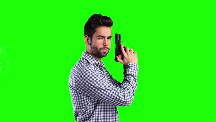 boy-pointing-a-gun image - Free stock photo - Public ...